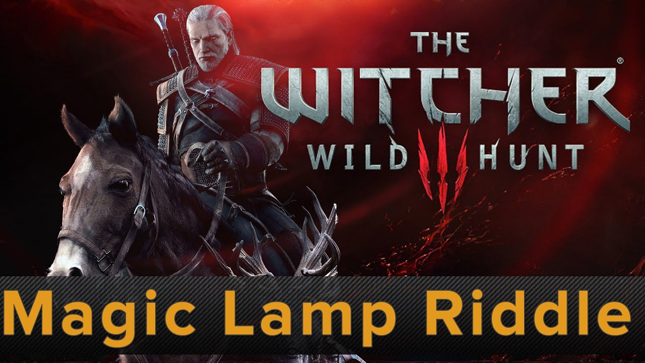 The Witcher 3 - Magic Lamp Riddle Solved - YouTube