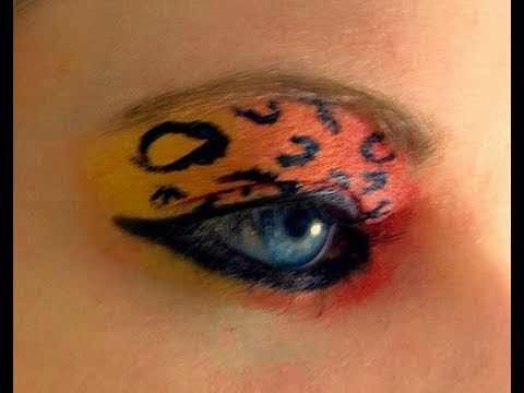 scene makeup for blue eyes neon cheetah makeup tutorial youtube