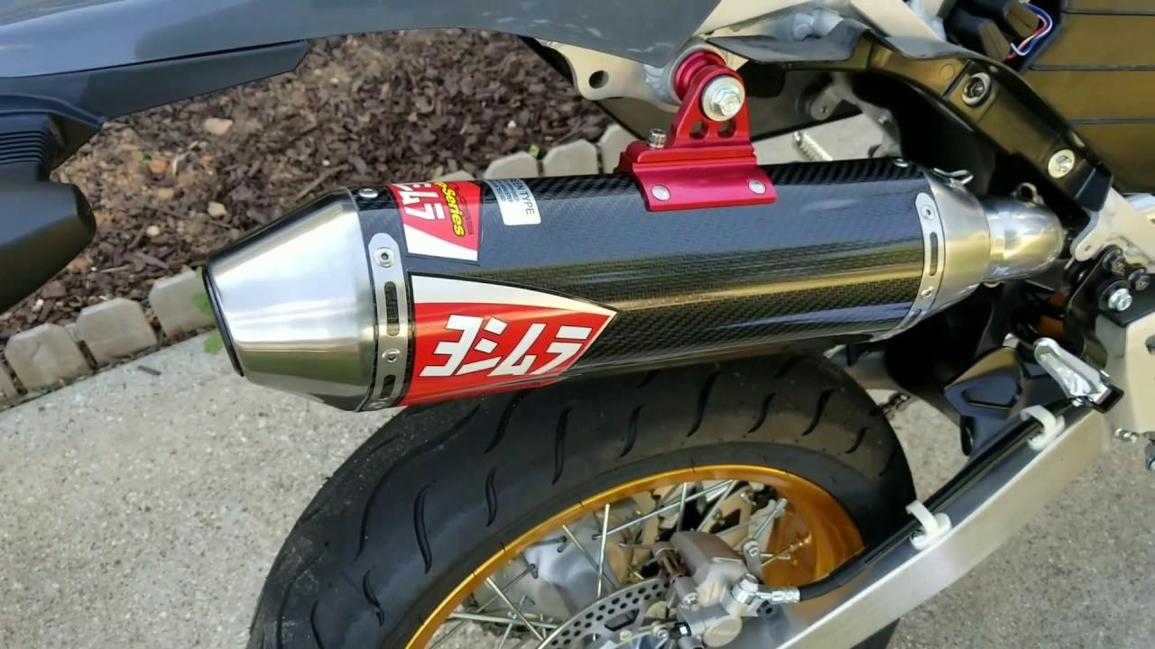 drz400sm s supermoto yoshimura full exhaust install diy