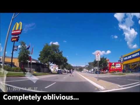 A P plater drives around Albury/Wodonga 1 - compilation