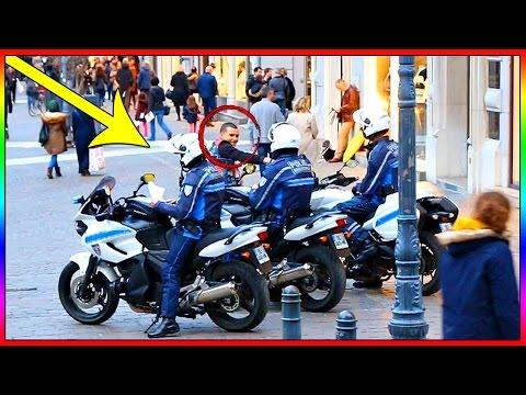 DEMANDER A DES POLICIERS SI ILS VEULENT MANGER NOTRE GLAND !