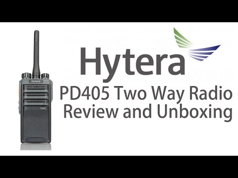 Hytera PD405 Radio Review and unboxing