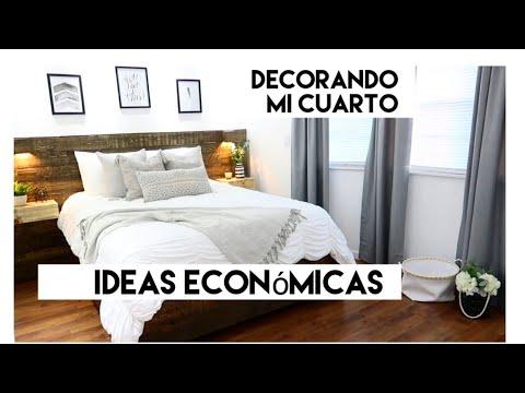IDEAS económicas para decorar tu cuarto/ Tour / Decora conmigo!
