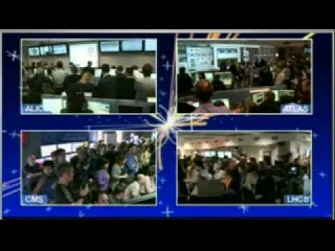 LHC - First high-energy collisions CERN historic moment 30 March 2010