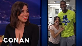 Aubrey Plaza's Awkward Chris Bosh Encounter