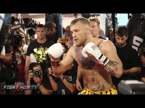 Conor McGregor looking like an Animal training for Floyd Mayweather