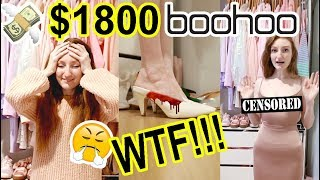 I SPENT $1800 AT BOOHOO!! HUGE HAUL AND TRY ON (57 ITEMS!)