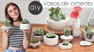 Como fazer vasos de cimento para decorar – Super Fácil e barato
