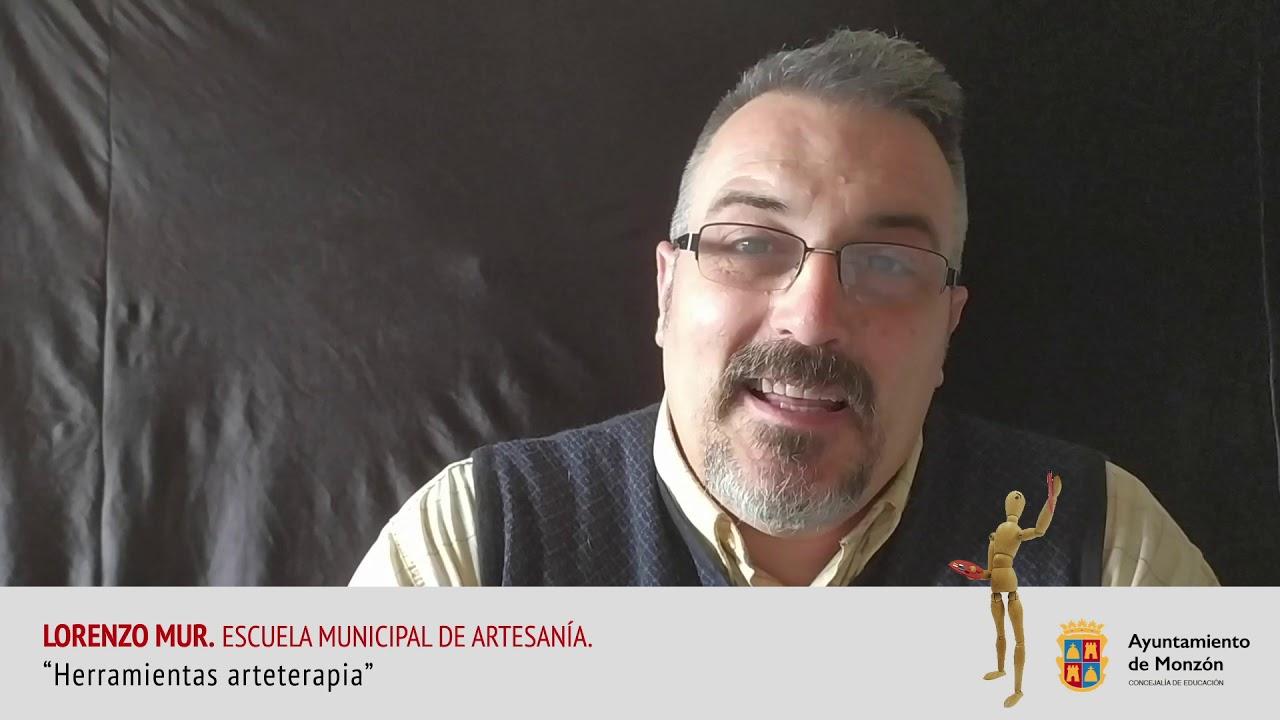 """""""Herramientas arteterapia"""", con Lorenzo Mur, de la Escuela Municipal de Artesanía de Monzón"""