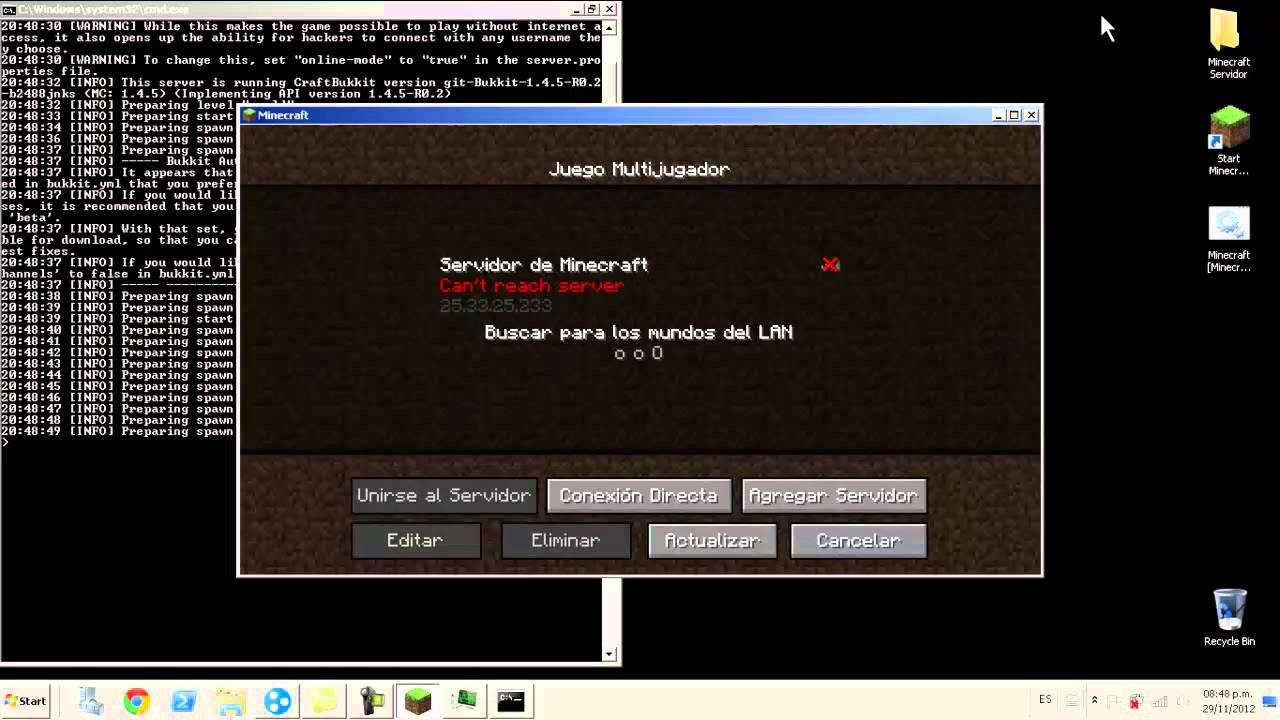 Minecraft Server Bukkit [Problema de autocambiado del online-mode