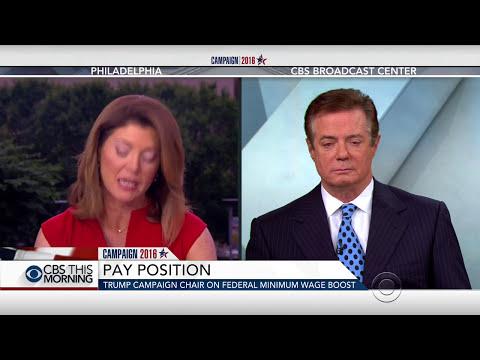 Paul Manafort, Trump's campaign chair sort of denies financial relationship between Trump and Russia