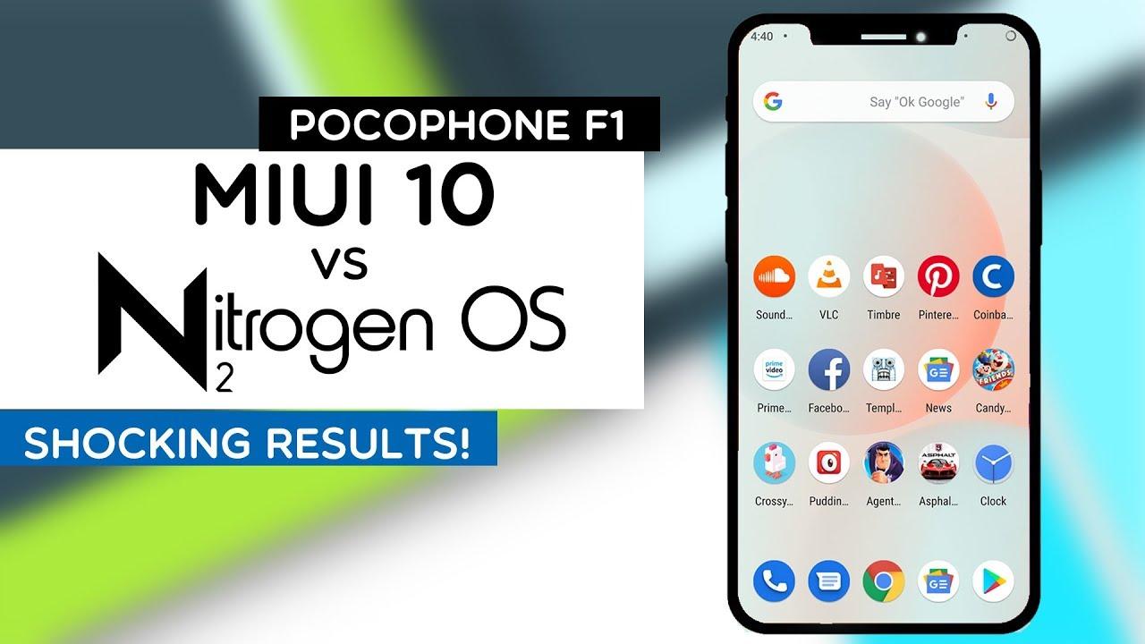 POCOPHONE F1 - MIUI 10 vs NITROGEN OS | STOCK ROM VS CUSTOM ROM | BEST  ANDROID 9 PIE ROM FOR POCO!