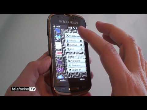 Samsung Giorgio Armani b7620 videoreview da Telefonino.net