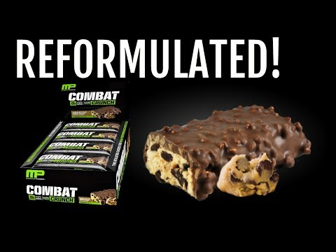 THEY NAILED IT!   New MusclePharm Combat Crunch Bar Review