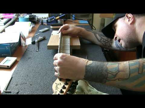 Fender Jim Root Telecaster Fret Level And Setup Youtube
