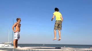 Мастер класс по прыжкам на батуте в Акватория Лета с Олегом Запорожченко