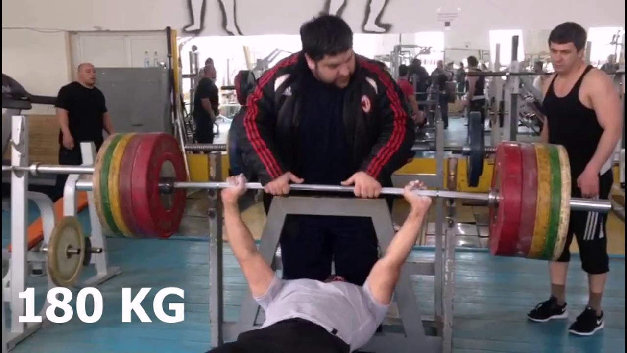 Seymur Eskerov 90 Kg Bench Press 180 Kg Trener Azer