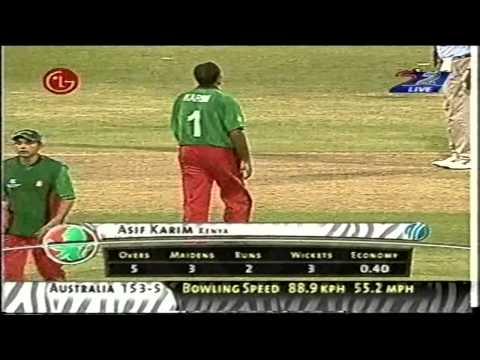 Aasif Karim Bowling Spell_2003 World Cup(Kenya vs Australia)