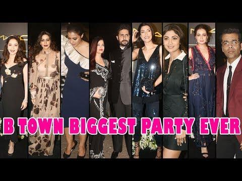 Aishwarya,Abhishek,Kajol,Sushmita,Madhuri,Sonali,Dia, At Make Up Man Micky Contractor's Party 2018