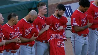 Tyler Skaggs honored with emotional moment of silence | FOX Sports West