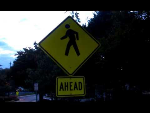 Look at this cross walk ahead sign!!!