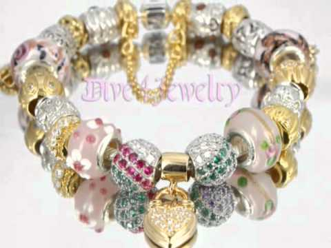 Pandora Bracelet with 21 charms and safety chain
