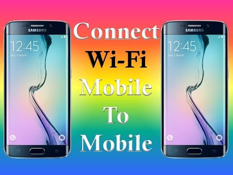 How To Connect WiFi Mobile To Mobile With WiFi Hotspot 2016!!