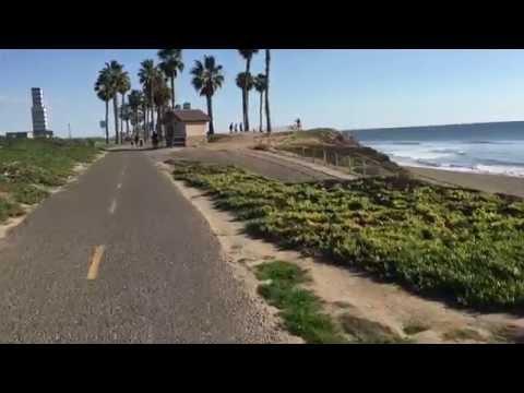 Bike Ride From Long Beach To Huntington Beach Pier, CA, USA