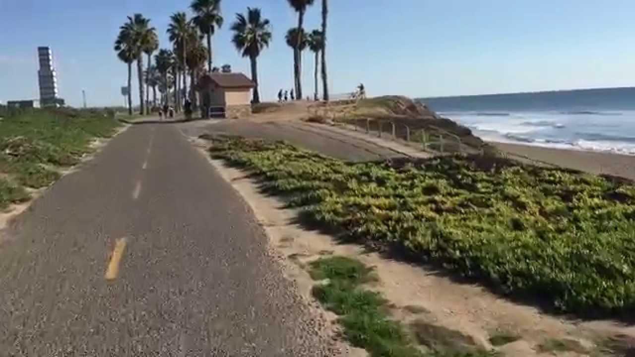 Bike Ride From Long Beach To Huntington Beach Pier Ca Usa Youtube