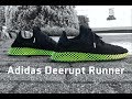 Adidas Deerupt Runner 'core black/ash blue' | UNBOXING & ON FEET | fashion shoes | 4K