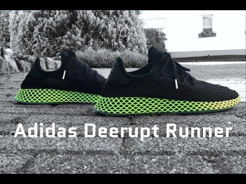Adidas Deerupt Runner 'core black/ash blue' | UNBOXING & ON FEET | fashion shoes | 4K
