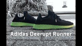 bb14de809 Adidas Deerupt Runner  core black ash blue