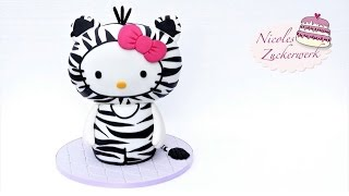 Hello Kitty 3D Motivtorte | How to make a Hello Kitty Cake | von Nicoles Zuckerwerk
