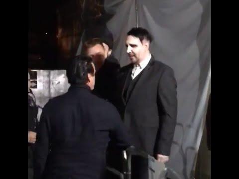 Marilyn Manson meets Till Lindemann on backstage of Maximus Festival Brazil 2016