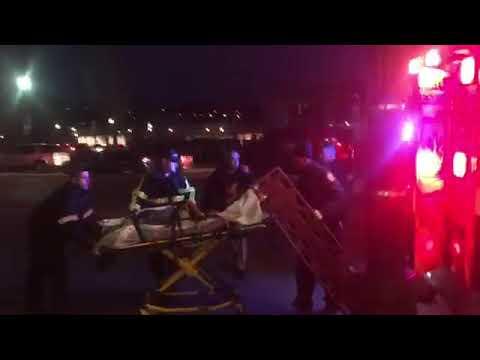 Man loaded into ambulance outside Providence Place