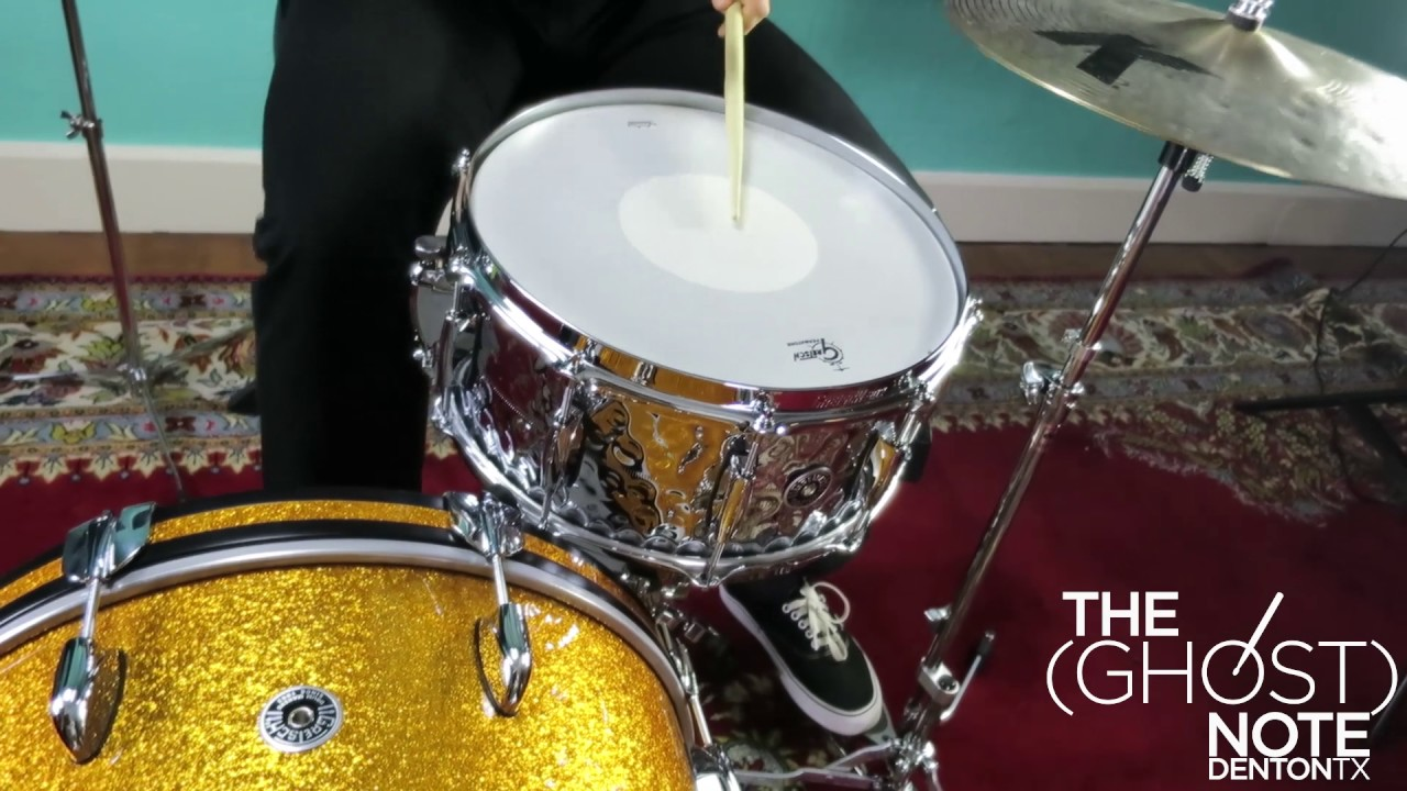 gretsch 14x6 5 brooklyn chrome over brass snare drum low tuning youtube. Black Bedroom Furniture Sets. Home Design Ideas