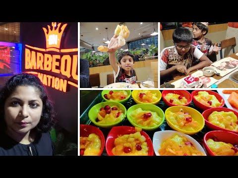 Tamil Vlog   My Son's Birthday Celebrations At Barbeque Nation (In Tamil)   Food Vlog In Tamil