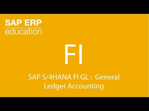SAP S/4HANA FI GL :  General  Ledger Accounting ( simple finance )