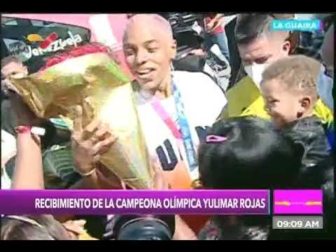 Yulimar Rojas retorna a Venezuela tras ganar medalla de oro en Juegos Olímpicos y Liga Diamante