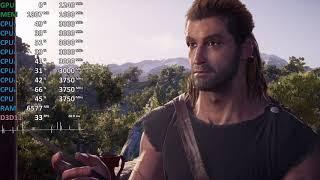 Ryzen 5 2400G Vega 11 Test - Assassin's Creed Odyssey - OC vs. Stock - Gameplay Benchmark Test