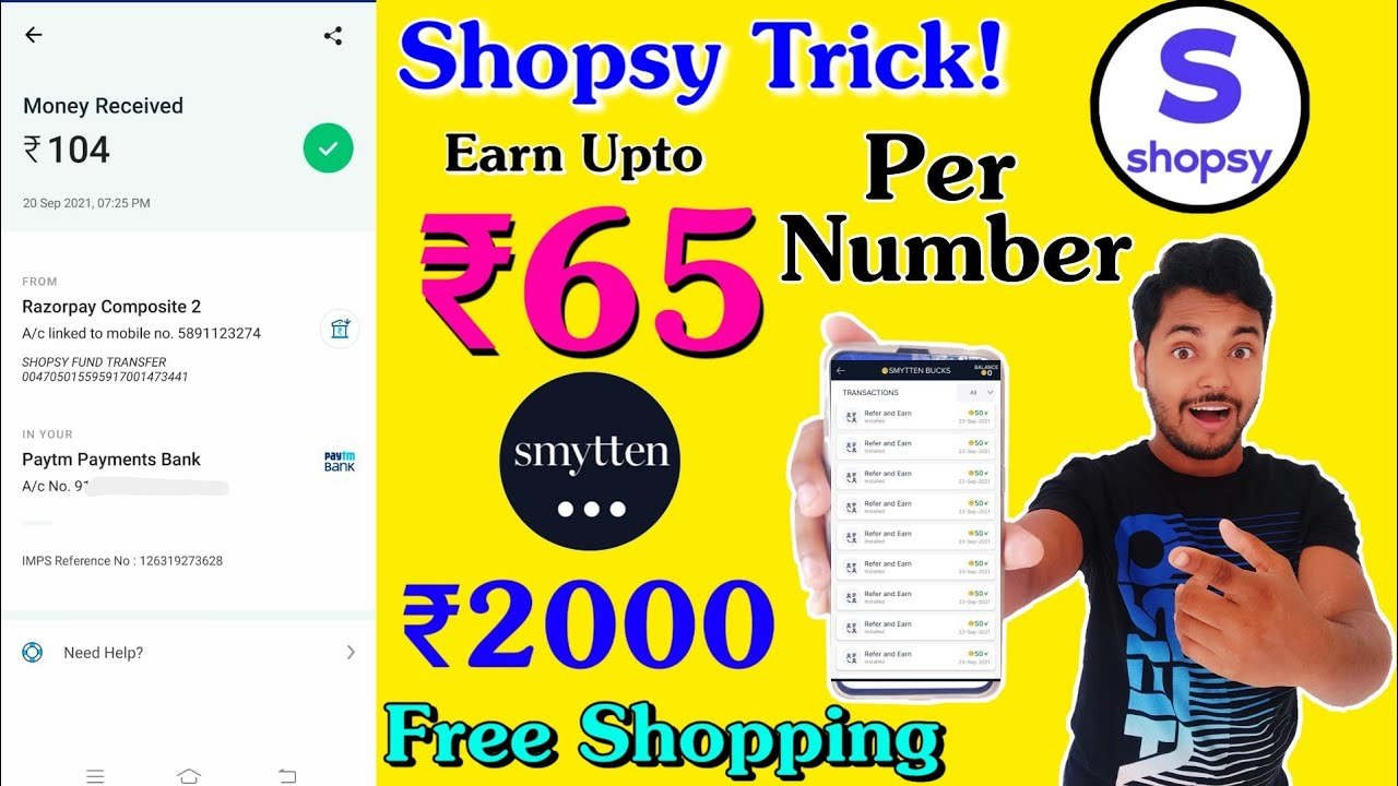 Huge Shopping Loot 🔥 Get Upto ₹2000 Product Only @₹0 !! Earn ₹65 Per Number From Shopsy App For All