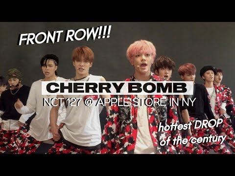 170625 NCT 127 『 CHERRY BOMB 🍒💣 』 @ APPLE STORE IN NEW YORK   THE DROP RIGHT IN FRONT OF ME OMG