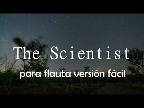 The Scientist (easy) of Coldplay. Miguel A. Rosique. Flauta dulce (notas)