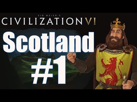 Civ 6 Let's Play - Scotland (Deity) - Episode 1