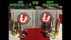 38 Special+P vs 357 Magnum (Ballistics Gel)