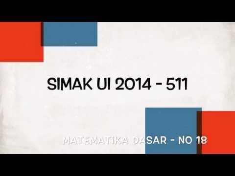 Pembahasan Soal No 18 Matematika Dasar SIMAK UI 2014 Kode 511