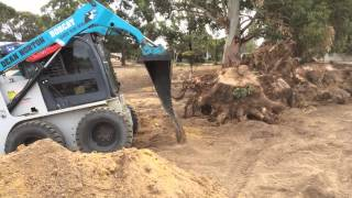 Skid Steer Stump Removal Bucket - Himac Attachments