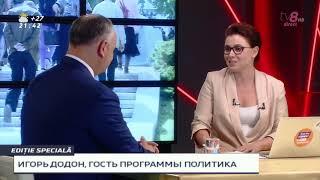 POLITICA NATALIEI MORARI / 10.06.19 / Igor Dodon / Exclusiv / Pare sa fie vocea lui Plahotniuc