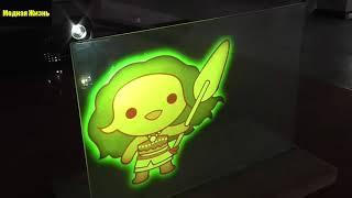Голограмма своими руками | Сравнительный тест плёнок обратной проекции