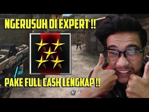 HERO NGERUSUH PAKE FULL CASH DI EXPERT ?? PANEN KILL CUY WKWKWKW - POINT BLANK GARENA INDONESIA